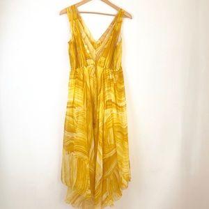 Diane von furstenberg yellow silk dress sz4 summer